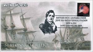 2014, Battle of St Leonard Creek, War of 1812, Pictorial Postmark , Item 14-163