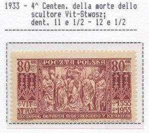 1933 Poland / Polen / Poland/ Polska, N° 282 2.8oz MNH