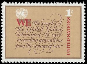 UN New York 1978 #291 Mint NH