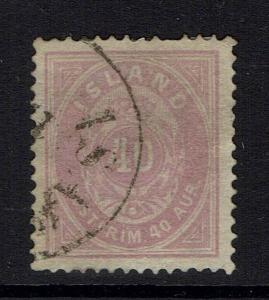 Iceland SC# 18, Used, Pulled Top Perf -  Lot 032617