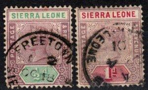 Sierra Leone #34-5 F-VF Used  CV $5.50  (X5064)