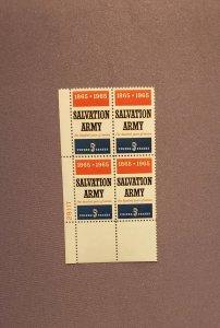 1267, Salvation Army, Plate Block LL, Mint OGNH, CV $2.00