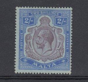 Malta KGV 1921 2/- Purple Blue SG86 MH J6740