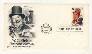 US - 1980 - Scott 1803 FDC - WC Fields