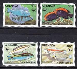 Grenada Scott 1211-1214 Mint NH (Catalog Value $29.50)
