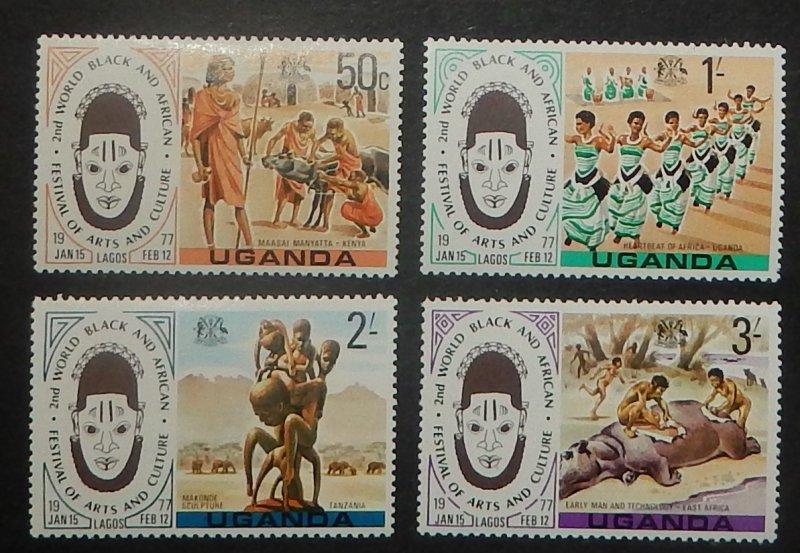 Uganda 163-66. 1977 Festival
