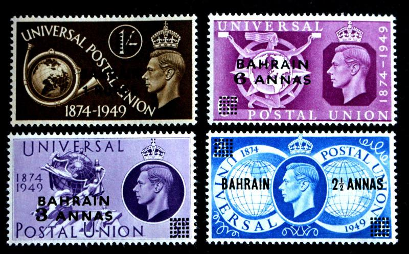 Stamp Bahrain Sc# 68-71 MNH UPU Issue 1949