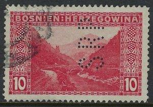 BOSNIA Scott 35, Complete Perfin Pattern A22-SRP: Schmarda, Rotter & Perschlitz