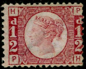SG48, ½d rose-red plate 11, LH MINT. Cat £120. PH