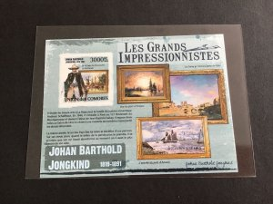 Unión Des Comores Impressionists  Mint Never Hinged Imperf Stamp  Sheet R38709