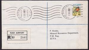 FIJI 1999 Registered cover NADI AIRPORT roller cancellation.................5825