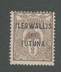 Wallis & Futuna Scott Catalog Number 2 Issued in 1920