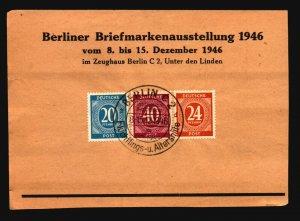 Germany 1946 Berlin Stamp Expo Card w/ Small Tear - Z16745