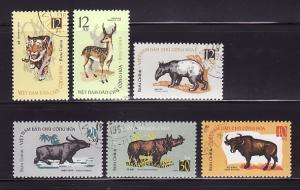 North Vietnam 309-314 Set U Animals (A)