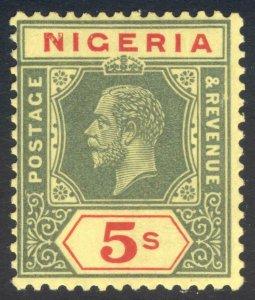 Nigeria 1932 5s Watermark Script DIE I SG 28a Scott 31a LMM/MLH Cat £70($88)
