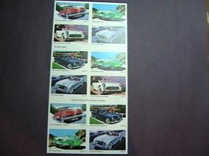 U.S.# 3931-3935(3935b)-MNH--BOOKLET PANE OF 16--SPORTY CARS OF THE 1950'S---2005