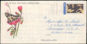 Australia, Postal Stationery, Flowers, Butterflies