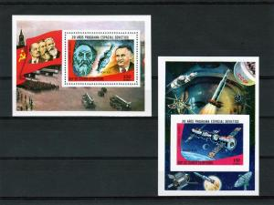 Equatorial Guinea 1978 Mi#Bl.279/280  20th.Years of Soviet Space 2 SS Perf+Imp.