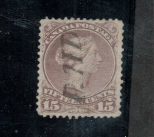 Canada #29b Extra Fine Used With Ideal PAID Cancel
