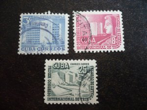 Stamps - Cuba - Scott# 513,C90-C91 - Used Set of 3 Stamps