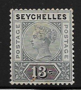 SEYCHELLES, 9, HINGED, QUEEN VICTORIA
