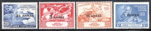 Aden Kathiri State of Seiyun - 1949 75th Anniversary of UPU Set MNH** SG 16-19