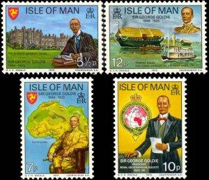 Isle Of Man MNH 70-3 Sir George Goldie Map Wheeler 1975