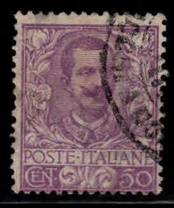 Italy Scott 85 violet 50c stamp 1901 CV$14.50
