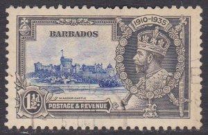 Barbados Sc #187 Used; Mi #149 Silver Jubilee
