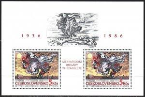 Czechoslovakia. 1986. bl68. Spanish inter-brigades. MNH.