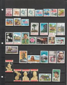 63 DIFFERENT US MNH 25 CENT STAMPS FROM 1290/C96a 2019 SCV $36.95