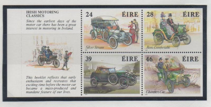 Ireland Sc 739a 1989 Old Car stamp booklet pane mint NH