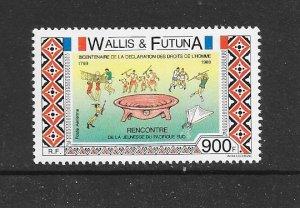 WALLIS & FUTUNA #384  HUMAN RIGHTS  MNH