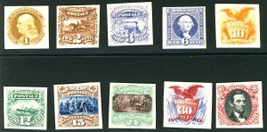 MALACK 112P4 - 122P4 SUPERB proofs on card, each sta..MORE.. b1950