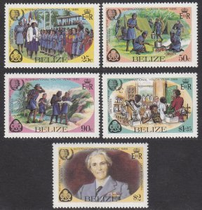 Belize 745-749 MNH CV $3.95