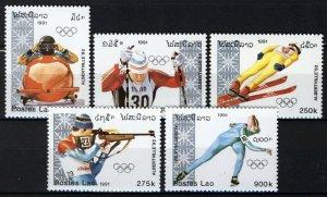 Laos 1991, Olympics Albertville 92 set MNH