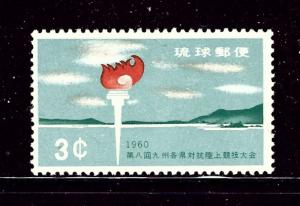 Ryukyu Is 72 MNH 1960 Torch