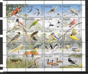 MALAWI SG876a 1992 BIRDS SHEETLET MNH
