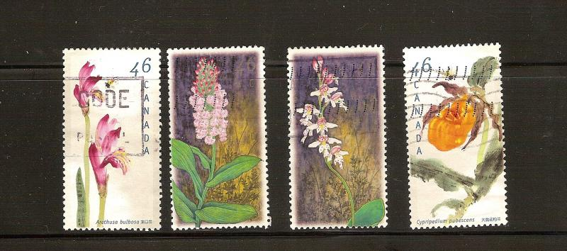CANADIAN SET ON  CANDIAN ORCHIDS USED STAMPS  LOT#201
