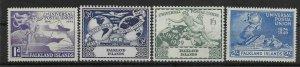 FALKLAND ISLANDS SG168/71 1949 U.P.U. SET MTD MINT