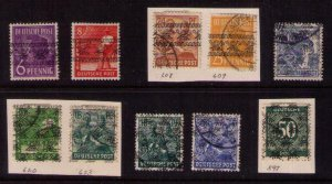 Germany 1948 Various WW2 Sc 597 American & British Zone Occupied Germany..F-VF