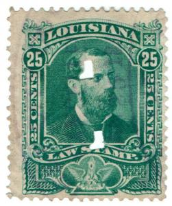 (I.B) US Revenue : Law Stamp 25c (Louisiana)
