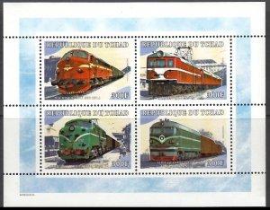 TCHAD CHAD 2000 LOCOMOTIVES LOCOMOTIVE LOKOMOTIVEN TRAIN RAILWAYS [#0001]