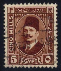Egypt #135 King Fuad, used (0.40)