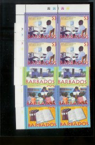BARBADOS Sc#941-944 Complete Mint Never Hinged PLATE BLOCK Set
