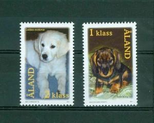 Aland. Dogs 2001. Complete Set. Mnh.