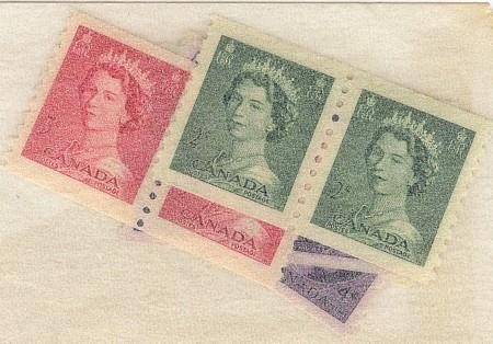 Canada - 1953 & 1954 First QE Coil Pairs Complete mint