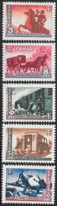 Serbia 2N42-2N46 MNH - Centenary of the Serbian Post