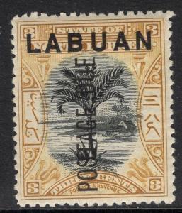 LABUAN SGD2 1901 3c BLACK & OCHRE MTD MINT