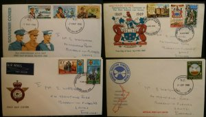 New Zealand 1968 1969 4 FDC Otago Uni Christan Temperance Armed Forces Law